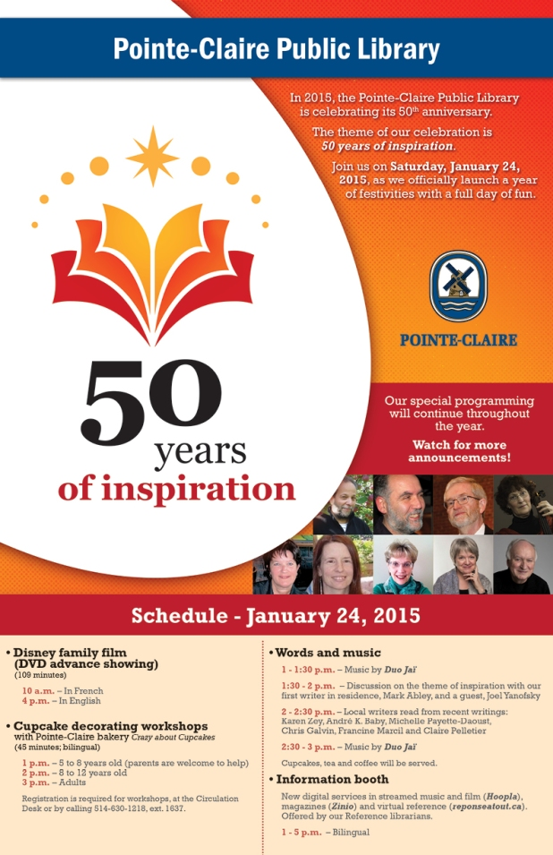 50th anniversary Pointe Claire Library-poster